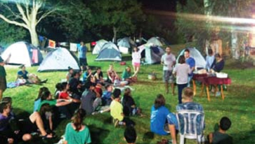 Youth group camp out