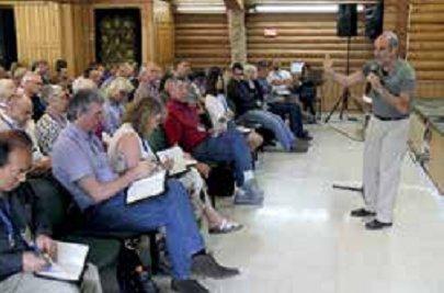 Asher teaching at Yad Hashmona