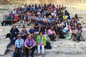 On the steps up to the Temple Mount