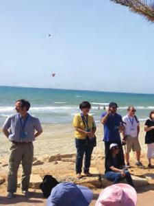 On the beach at Haifa